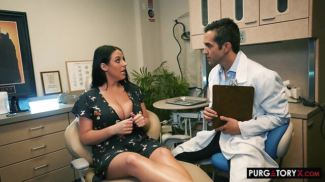 Tube Sex  - angela white visita al dentista milf