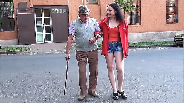 Tube Sex  - A happy day for grandpa with a small dick blowjob