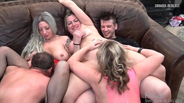 Tube Sex  - Four horny sluts sucking and fucking at amateur swinger orgy american