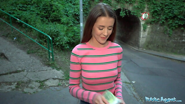 Tube Sex  - Public Agent Sybil Kailena wonders into the path of a guy blowjob