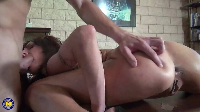 Tube Sex  - Crazy mom gets fisting and anal taboo sex from son anal