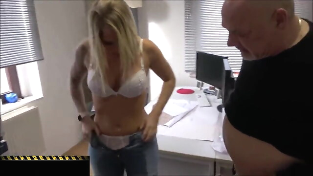 Tube Sex  - Punishment for Your Employees – Pissing Orgasm blonde