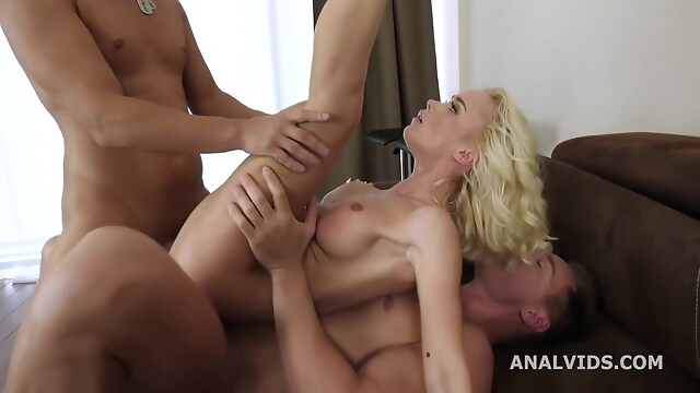 Tube Sex  - Debut Rough Anal Threesome With Dp For Lara !!!!!!! big cock